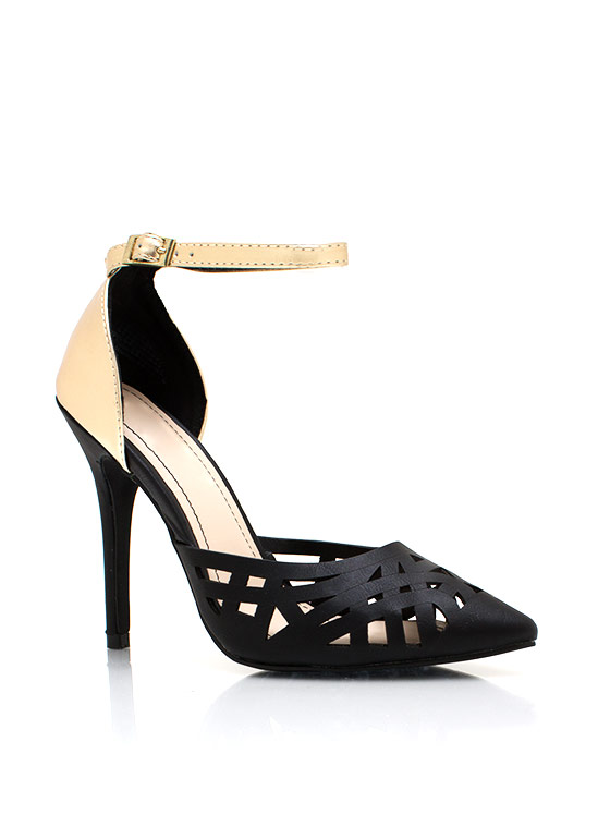 Made The Cut Metallic Heels BLACKGOLD
