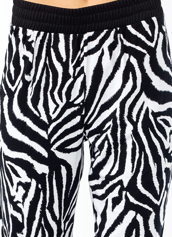 Z Is For Zebra Track Pants BLACKWHITE