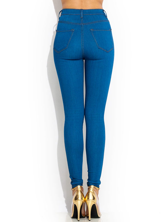 Vintage High-Waisted Skinnies BLUE