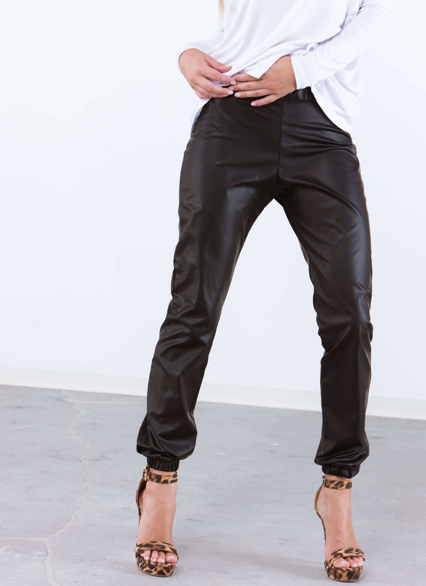 Go Faux Joggers BLACK (Final Sale)