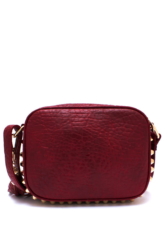 Pins N Things Faux Leather Purse RED