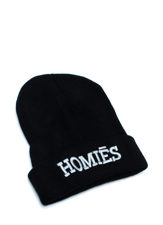 The Homies Knit Beanie GREYBLACK