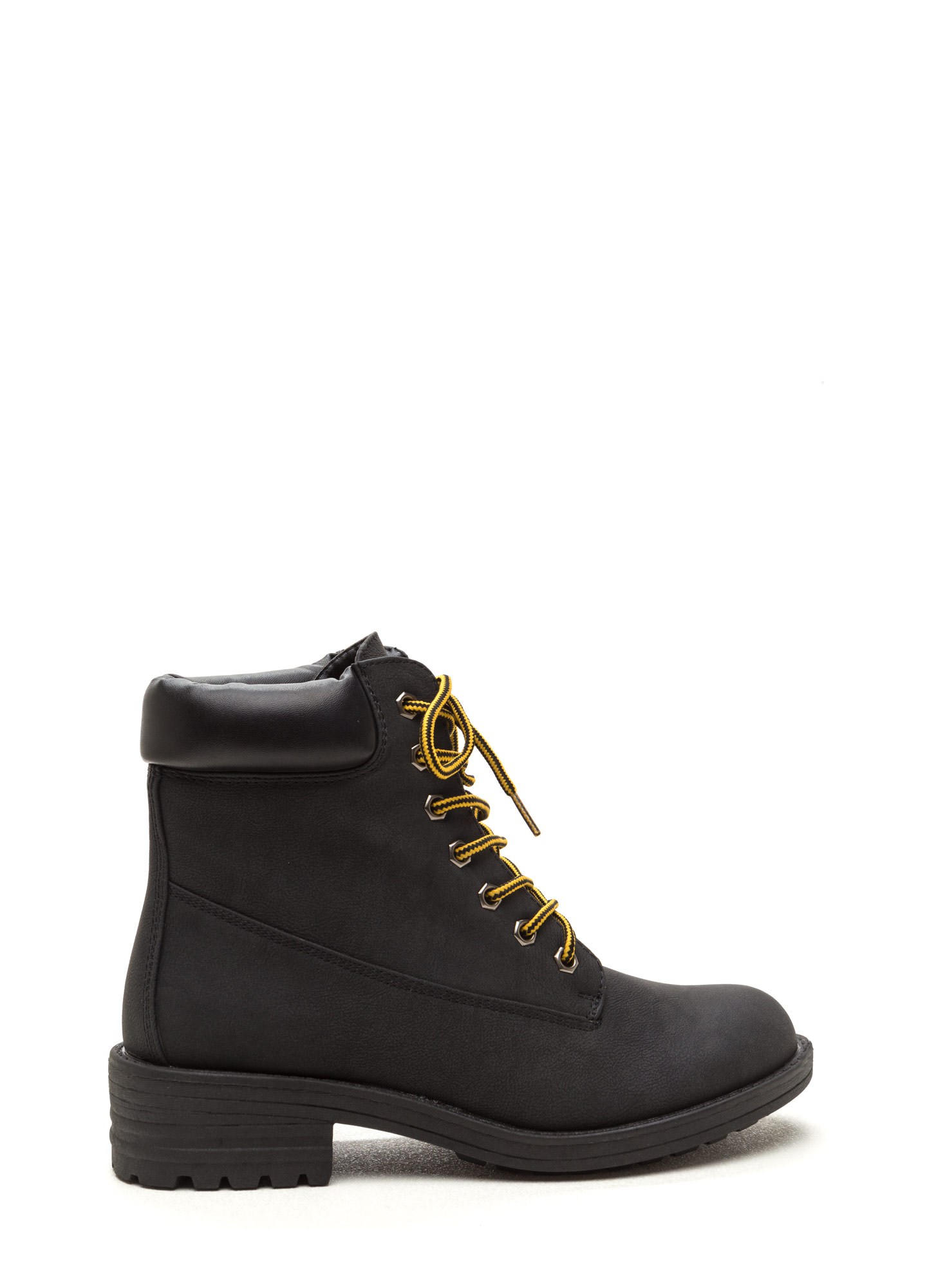 Take A Hike Lace Up Boots BLACK