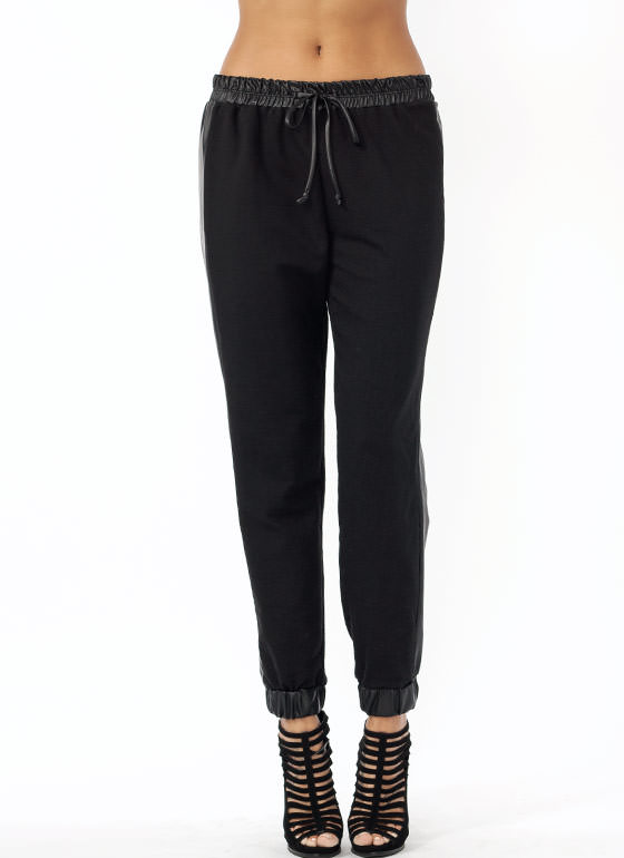 Stripe Down Track Pants BLACK
