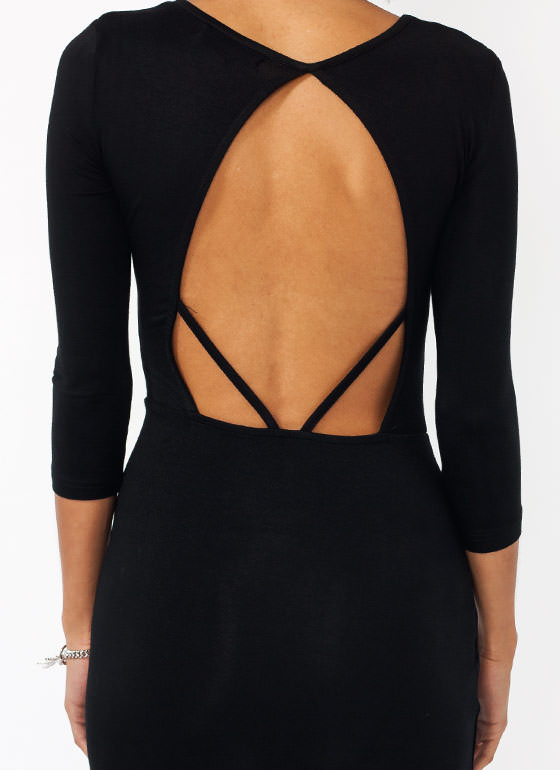 Back In The Game Draped Dress BLACK