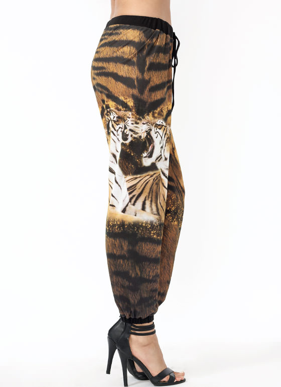 Hear Me Roar Tiger Track Pants ORANGEBLK