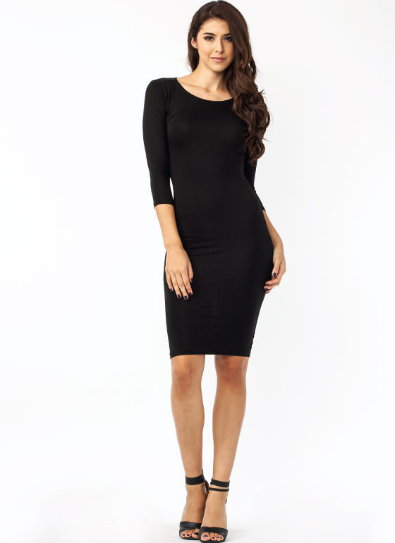 Basically Banging Midi Dress BLACK