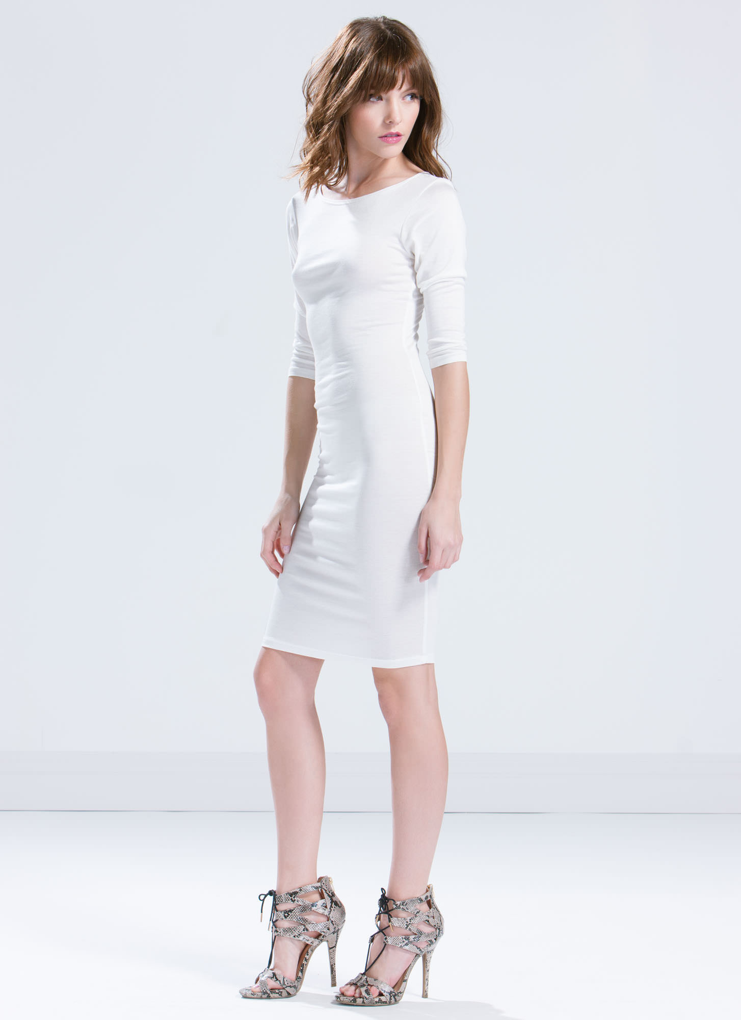 Basically Banging Midi Dress IVORY