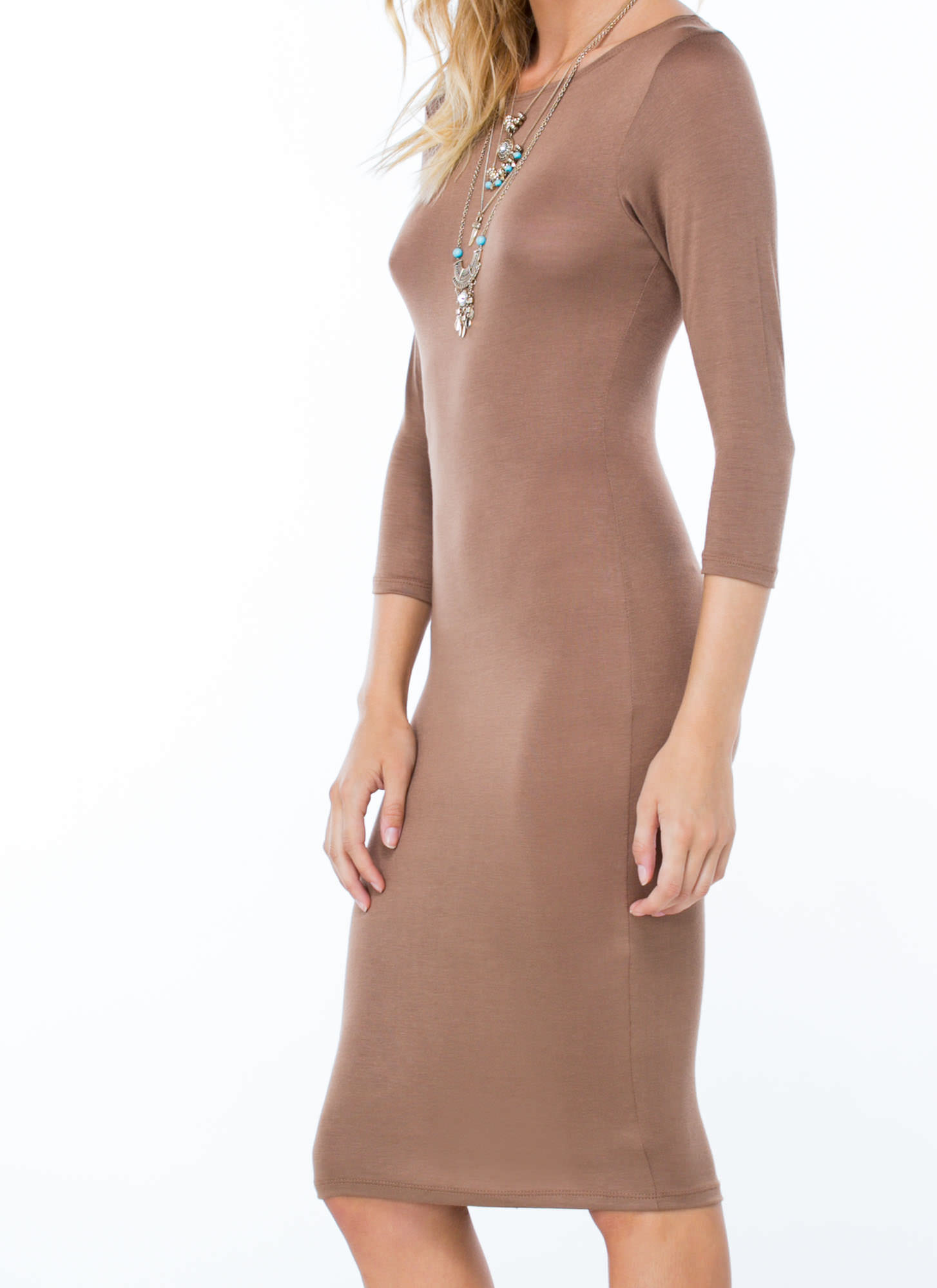 Basically Banging Midi Dress MOCHA
