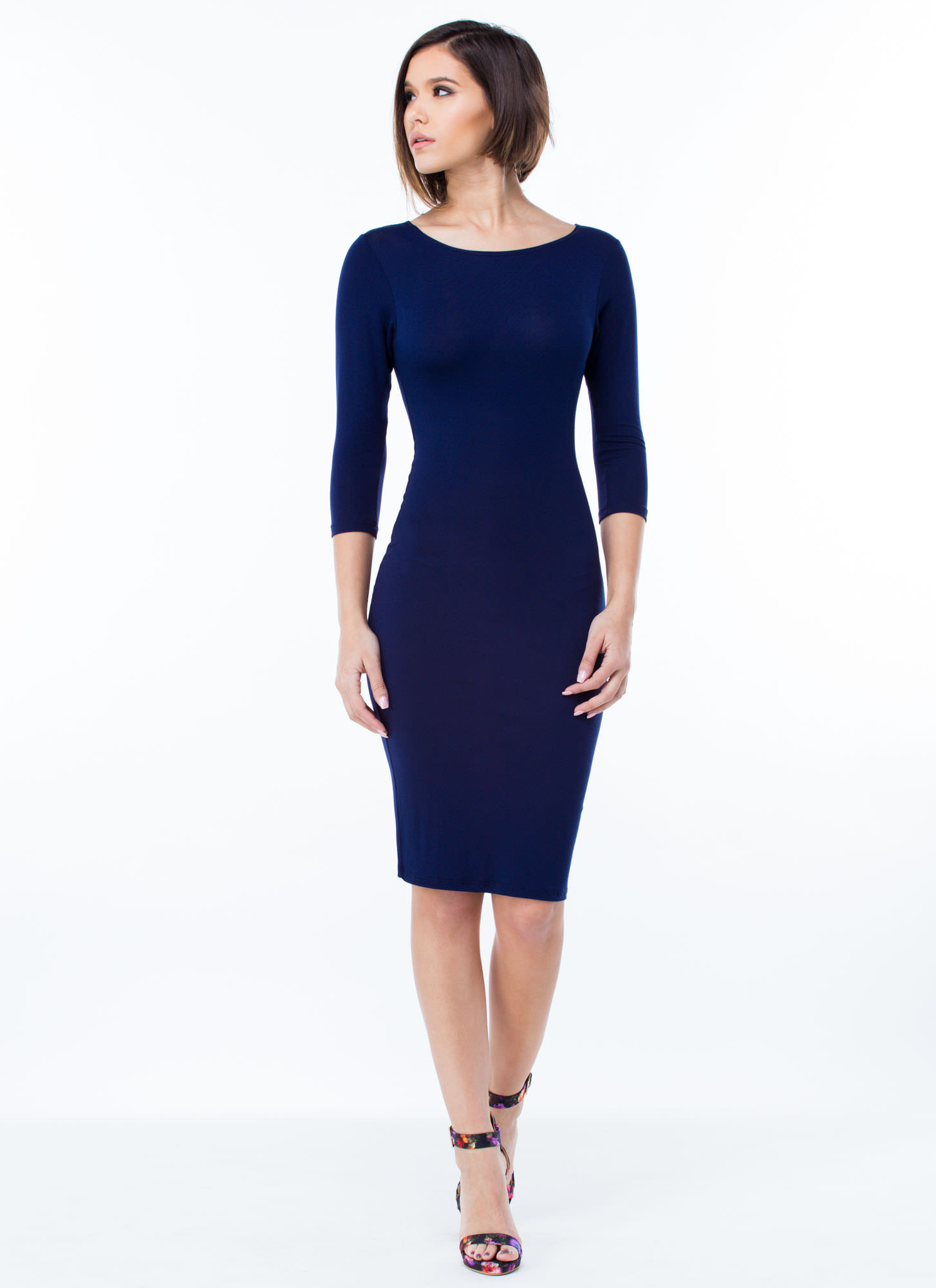 Basically Banging Midi Dress NAVY