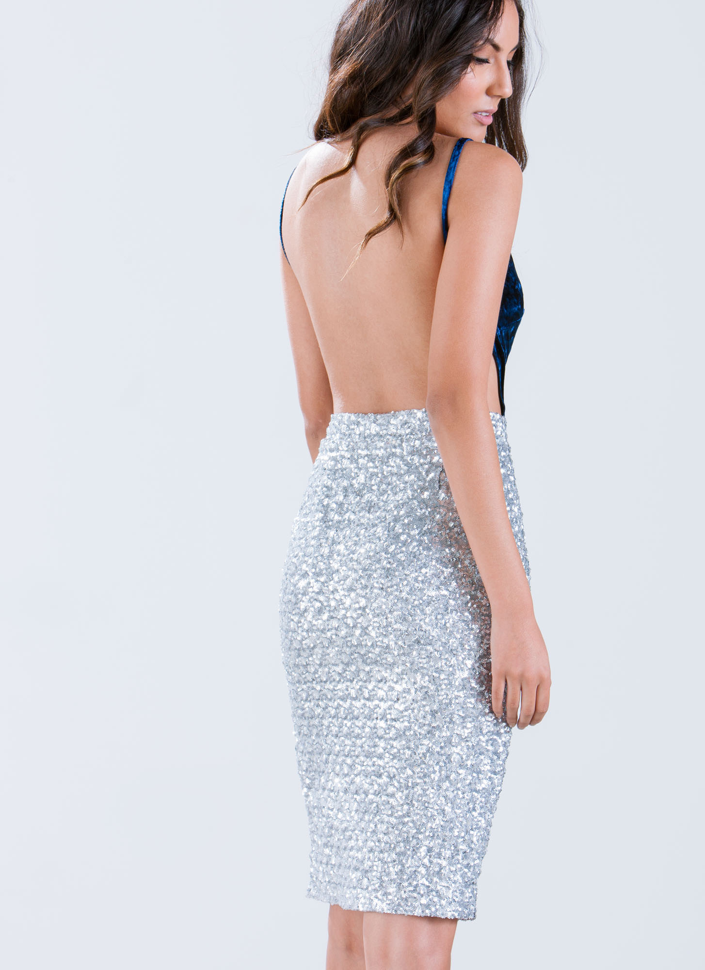 Spiced Up Sequined Dress NAVY