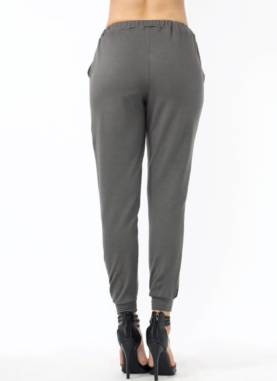 All Faux You Joggers GREY