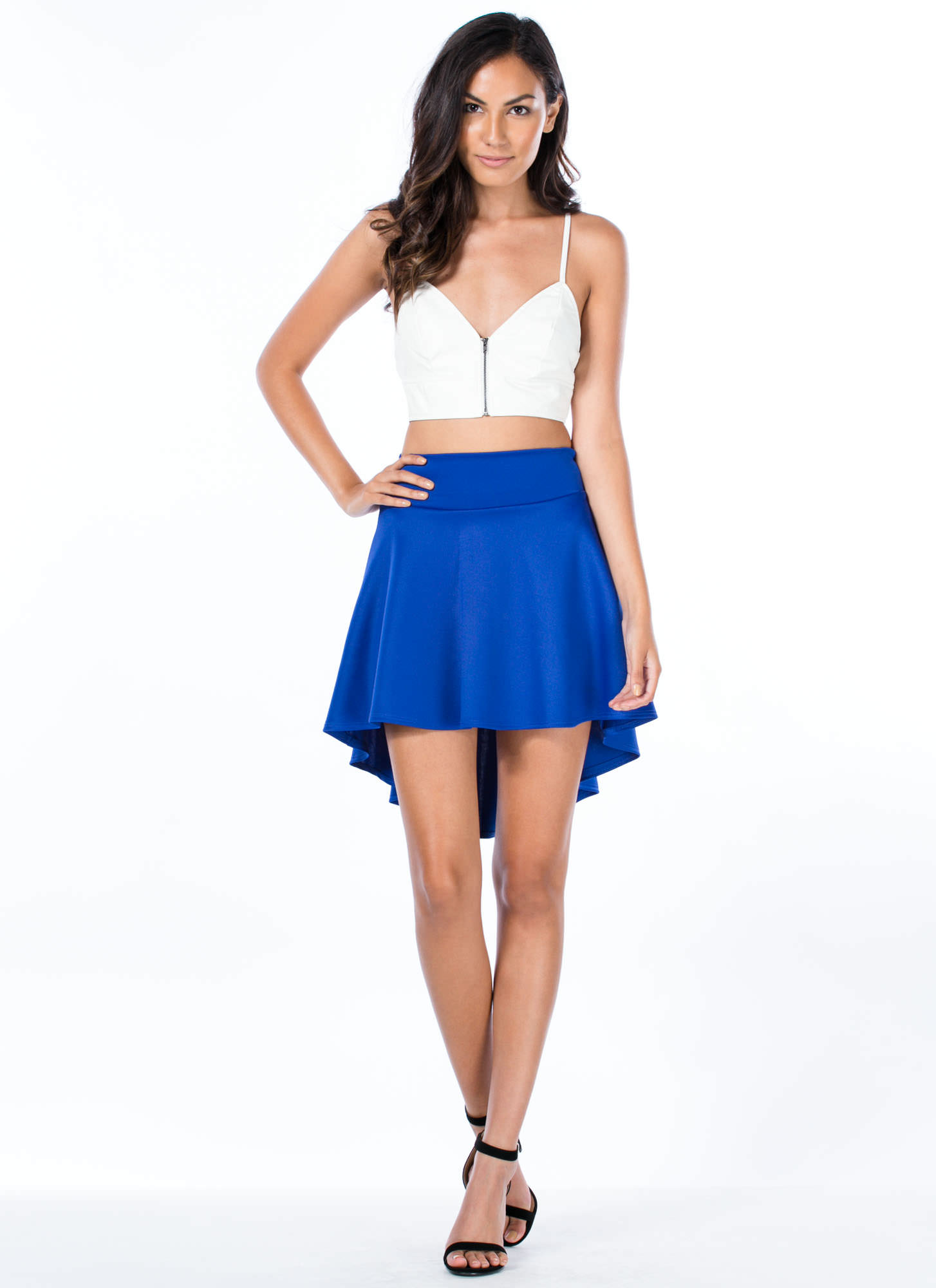 High-Low Skater Girl Skirt ROYAL