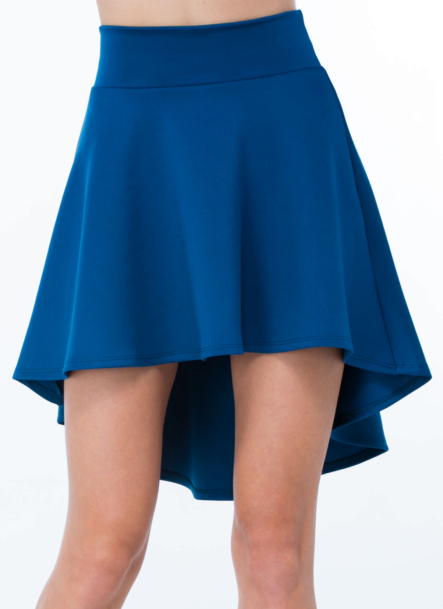 High-Low Skater Girl Skirt TEAL