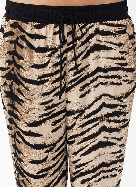 High Of The Tiger Joggers BEIGEBLACK