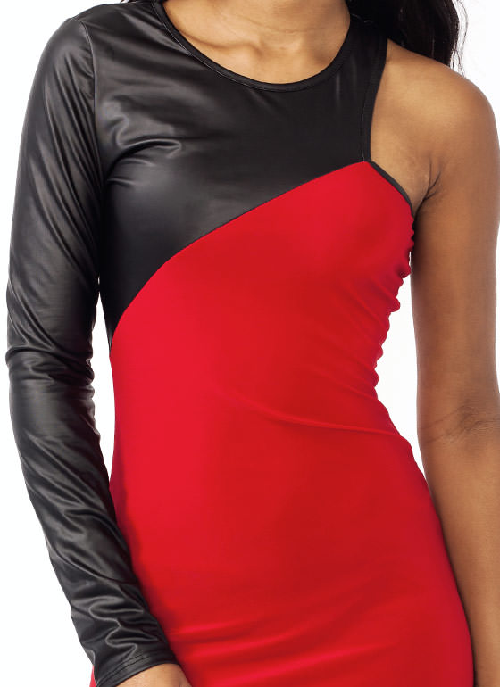 Armed And Dangerous Contrast Dress RED