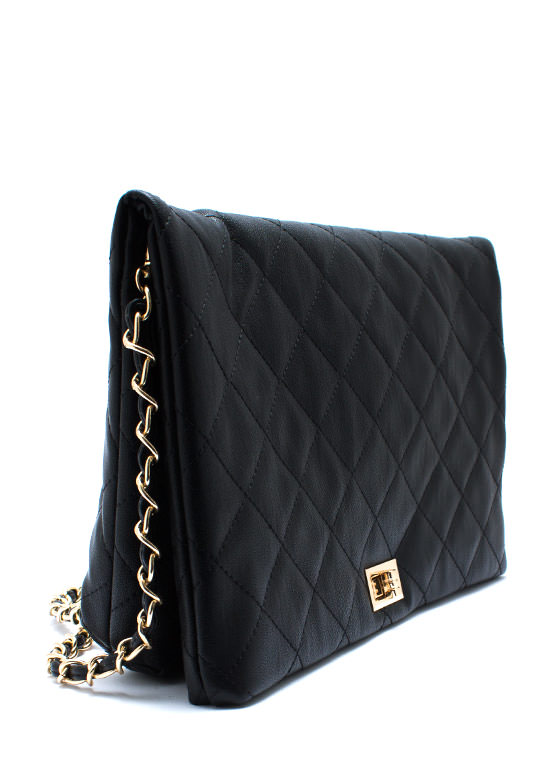I Feel Quilty Clutch BLACKGOLD