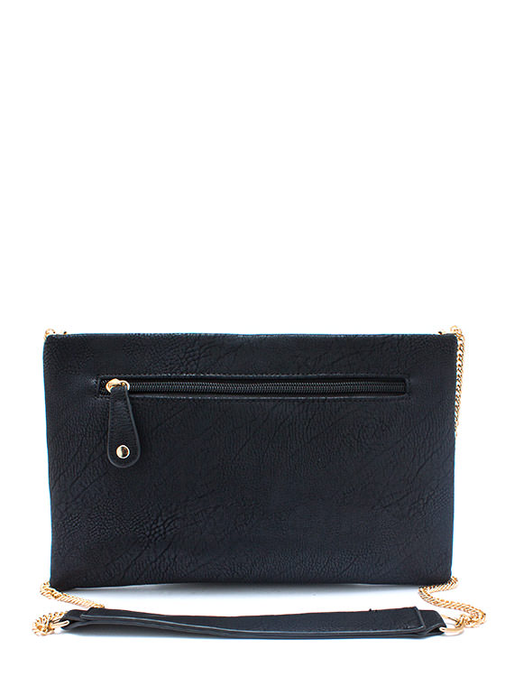 Big Faker Buckle Clutch BLACK