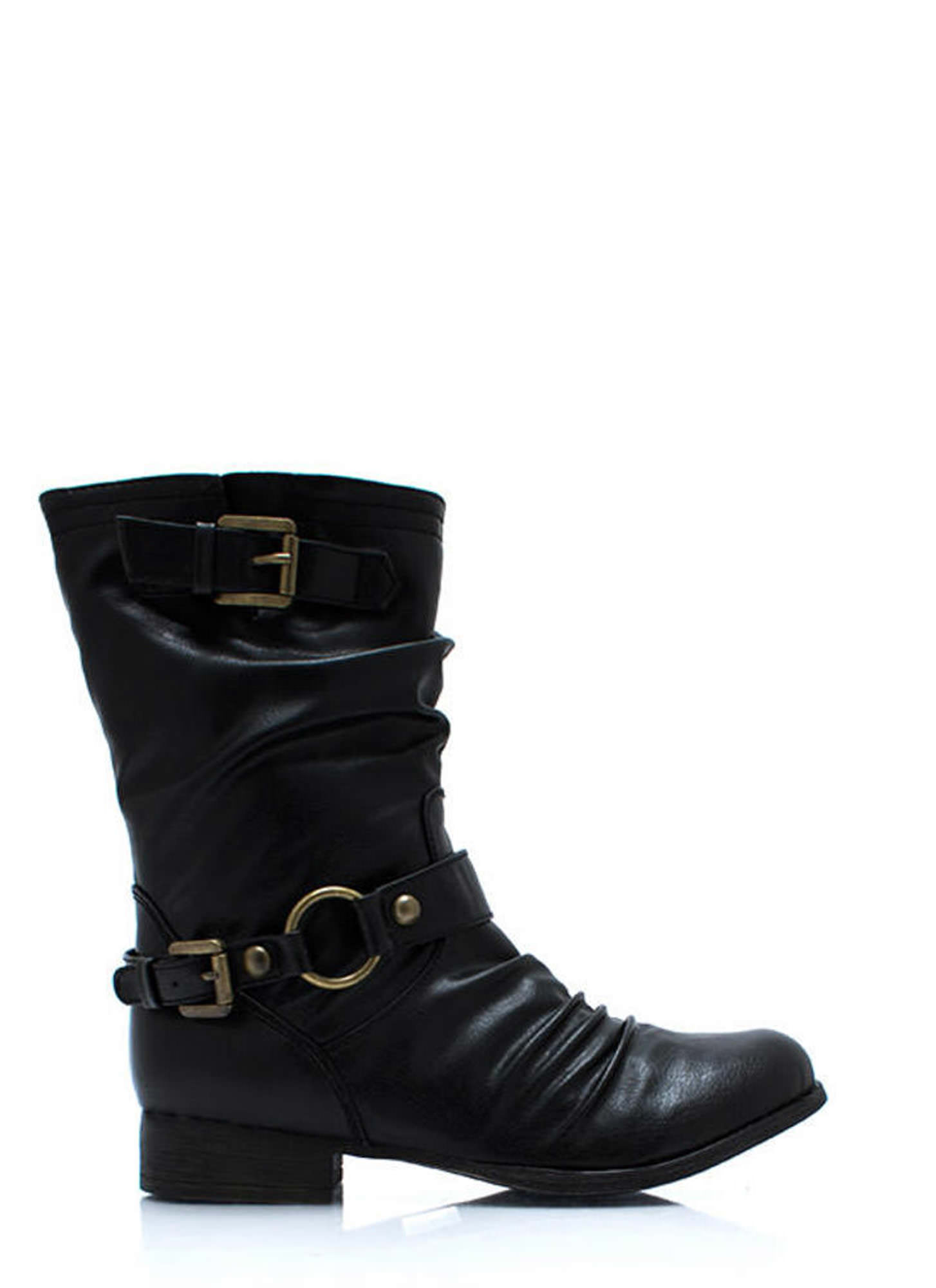 In The Loop Moto Boots BLACK