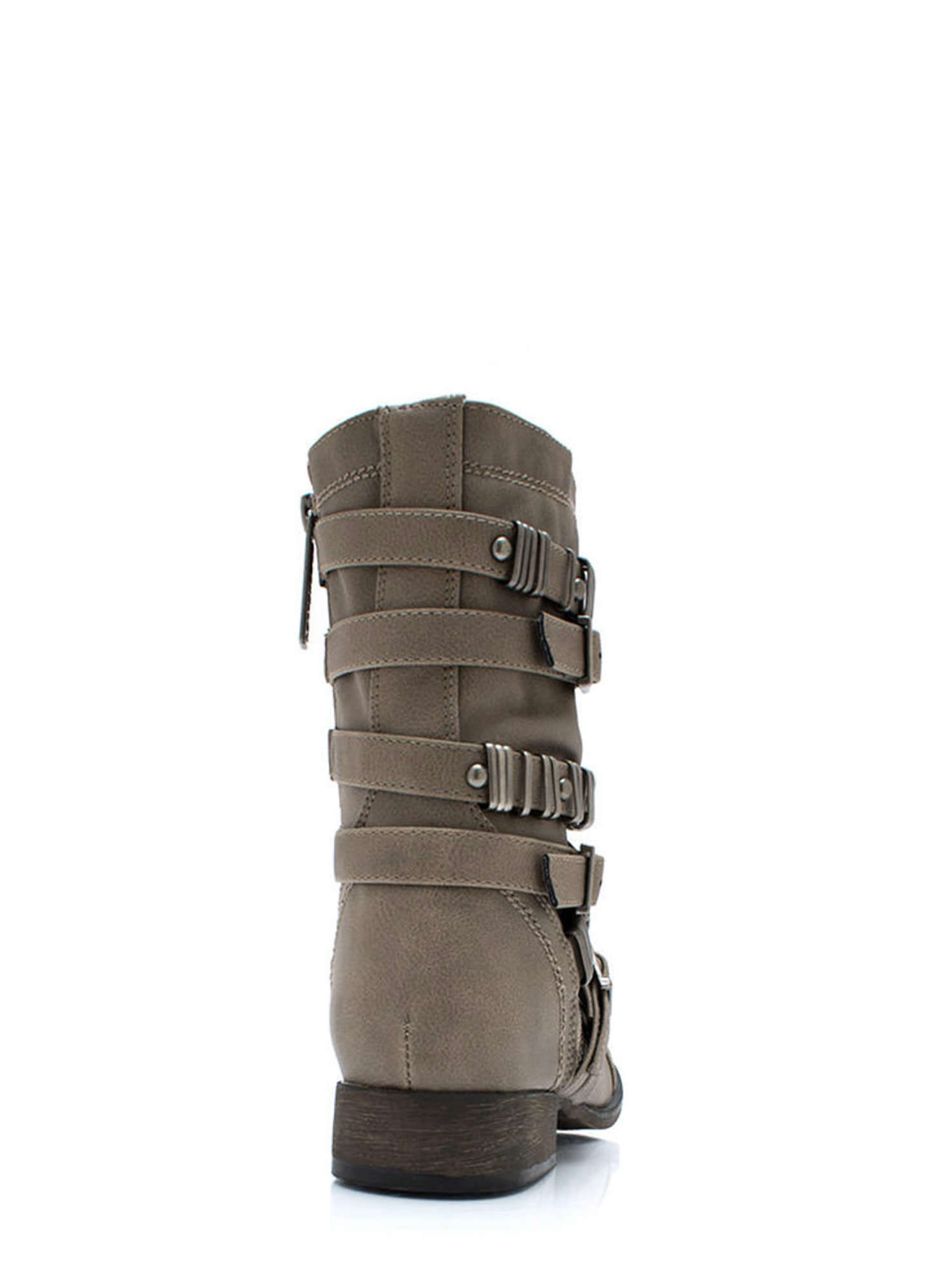 Rings Around The Strappy Boots BEIGE