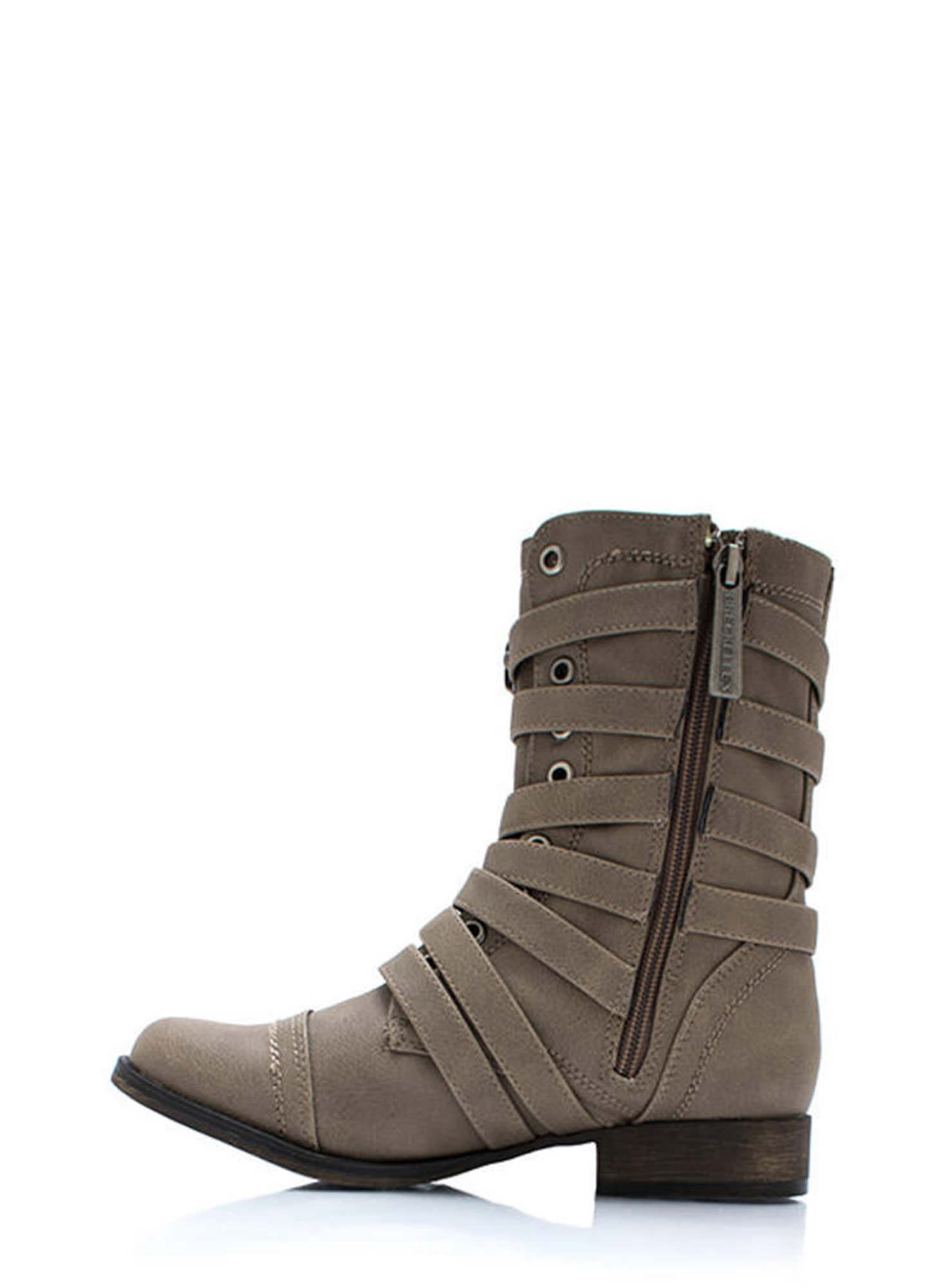 Rings Around The Strappy Boots BEIGE (Final Sale)