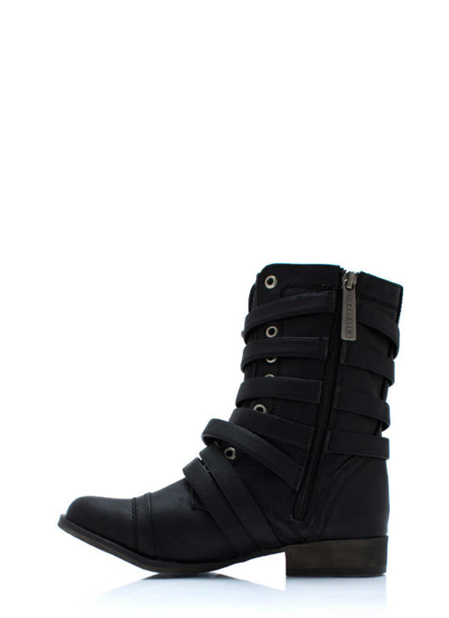 Rings Around The Strappy Boots BLACK (Final Sale)