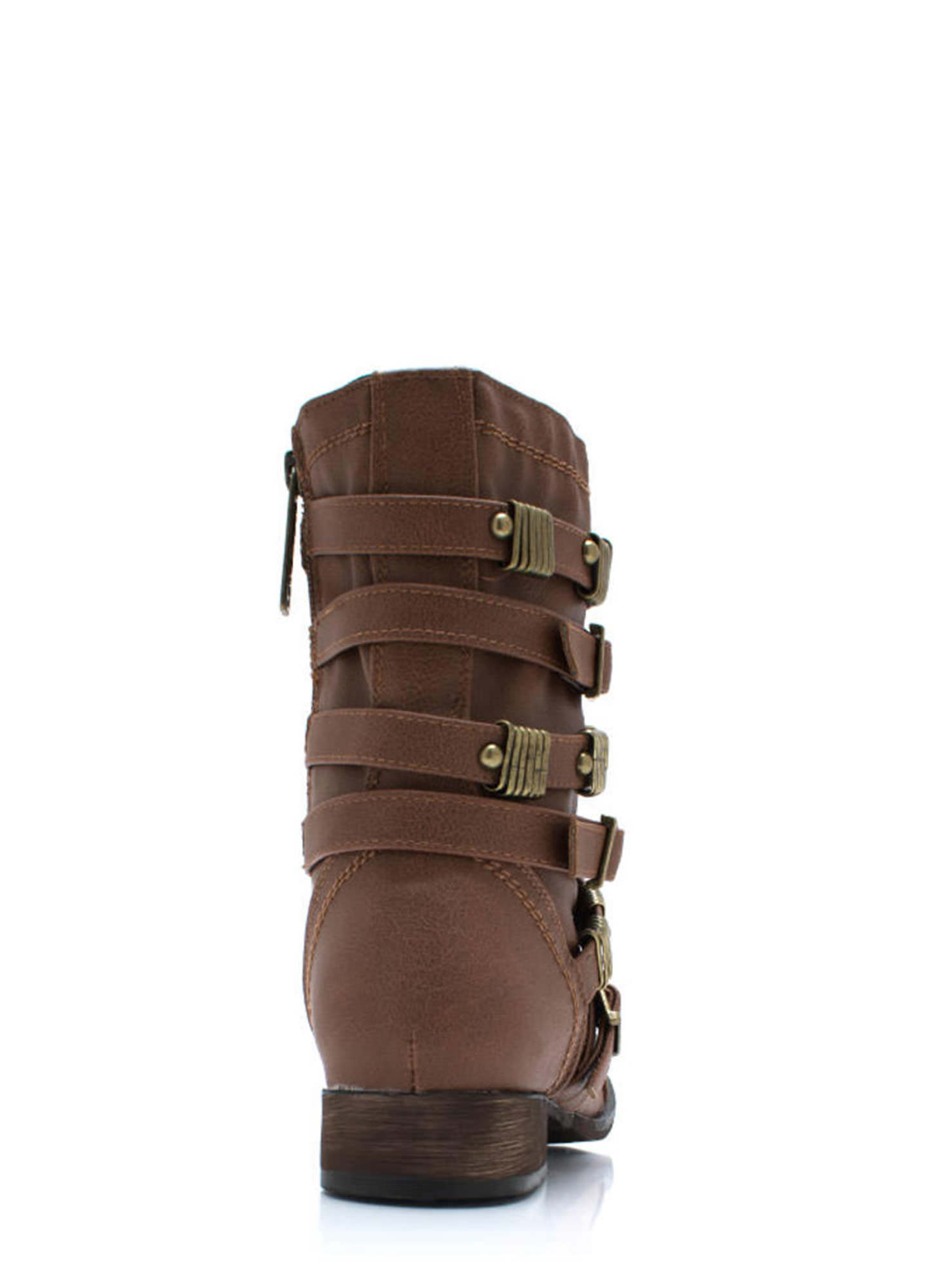 Rings Around The Strappy Boots TAN (Final Sale)