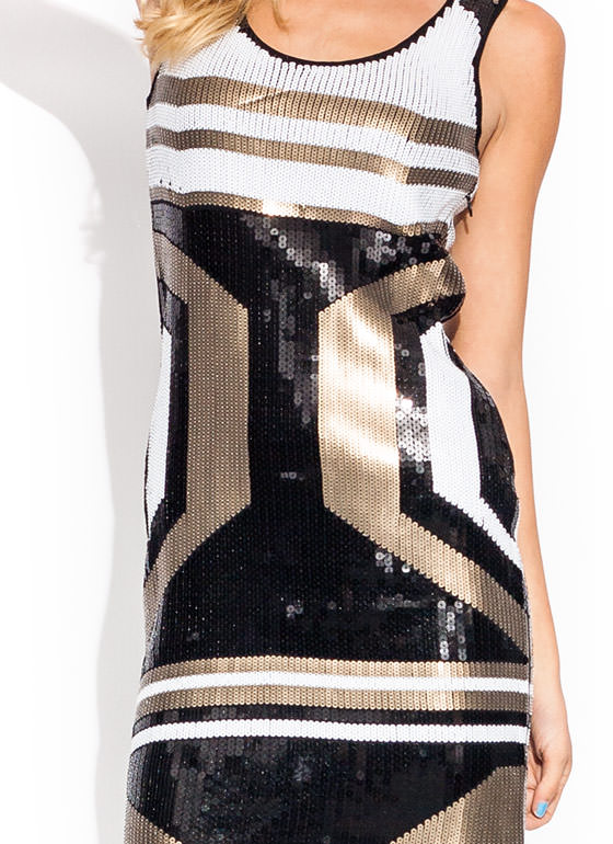 In Perfect Sequins Mini Dress BLACKGOLD
