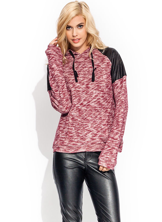 Sweat It Out Quilted Hoodie BURGUNDY