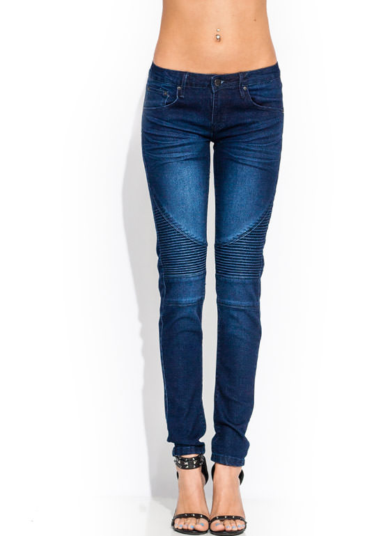 Moto Power To You Skinny Jeans DKBLUE