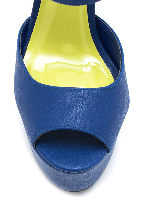 Meet Your Mesh Peep Toe BLUE