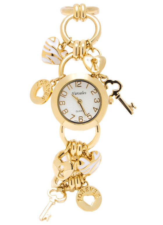 Key 2 My Heart Bracelet Watch GOLDWHITE
