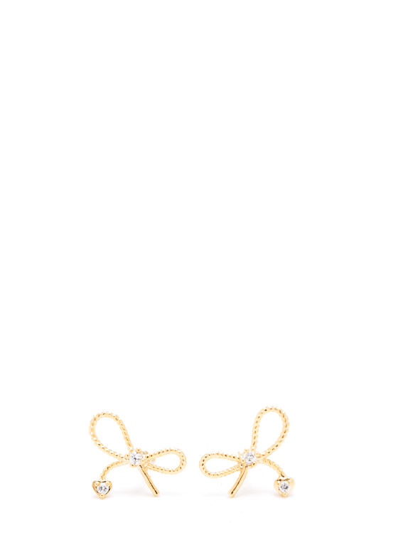 Dainty Adora Bow Earrings GOLD