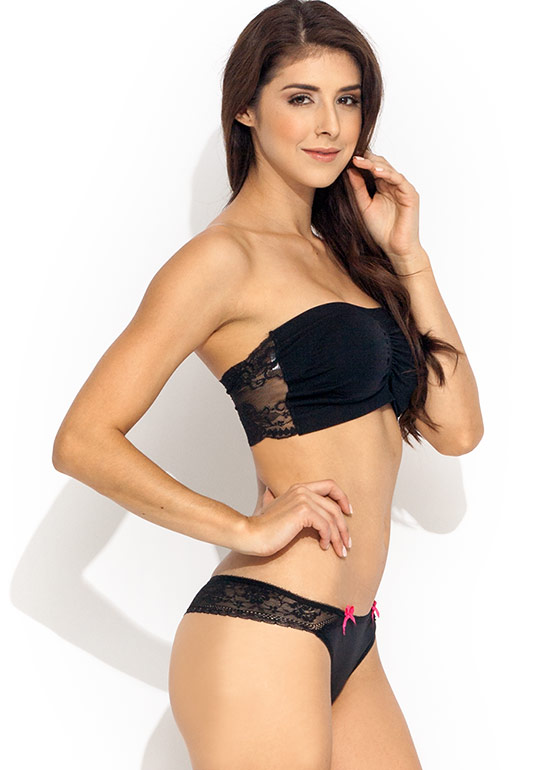 Bow Dilicious Lace Panties BLACK