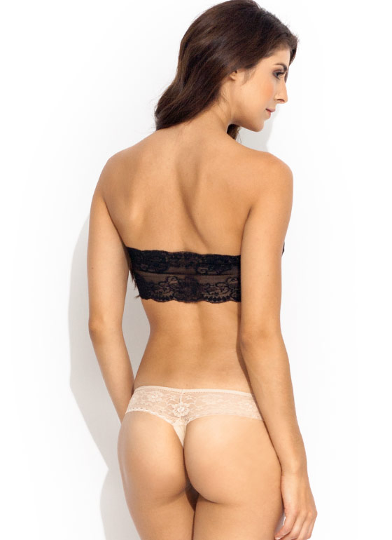 Bow Dilicious Lace Panties NUDE (Final Sale)