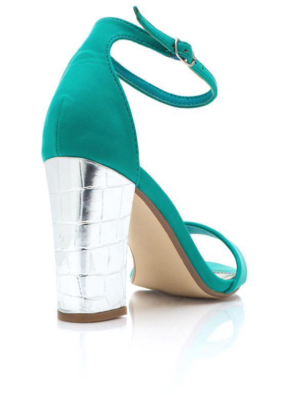 Walk The Croc Heels SEAFOAM