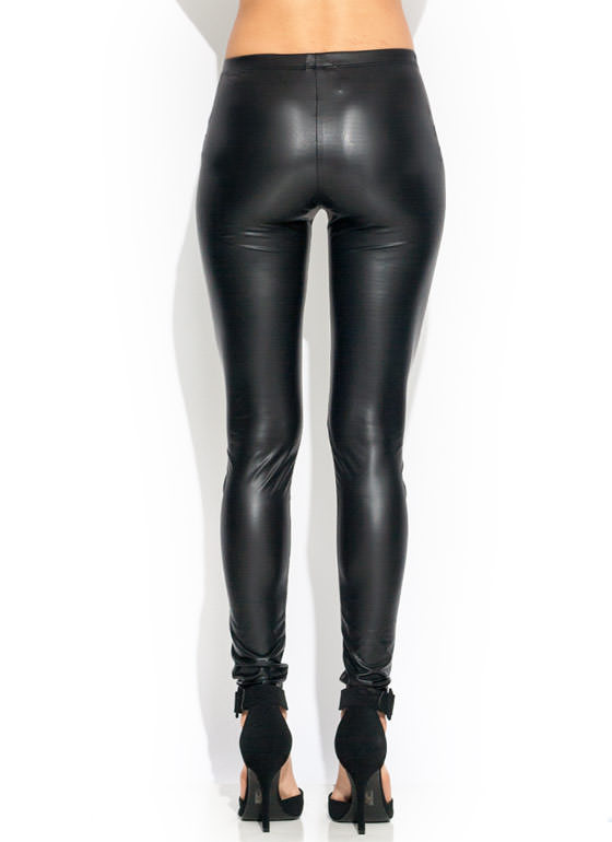 Sleek For Themselves Shiny Leggings BLACK