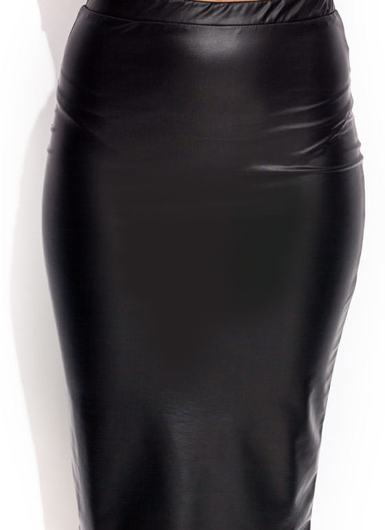 Sleek For Itself Pencil Skirt BLACK