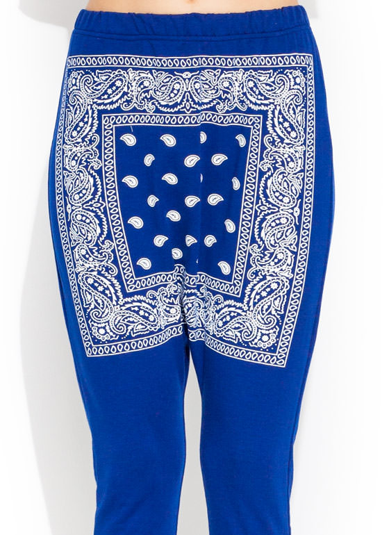 City Slicker Bandana Pants BLUE