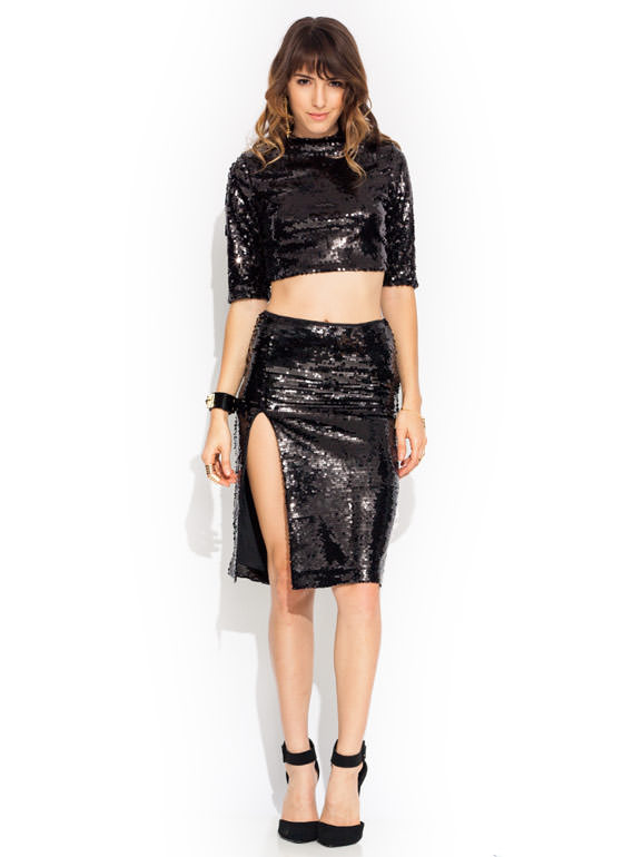 Disco Inferno Skirt BLACK