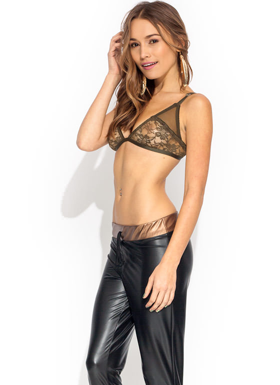 Touch Base Lace Bralette OLIVE