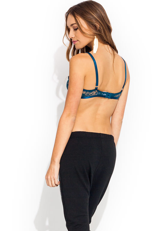 Touch Base Lace Bralette TEAL