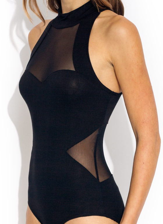 Fresh Mesh Bodysuit BLACK