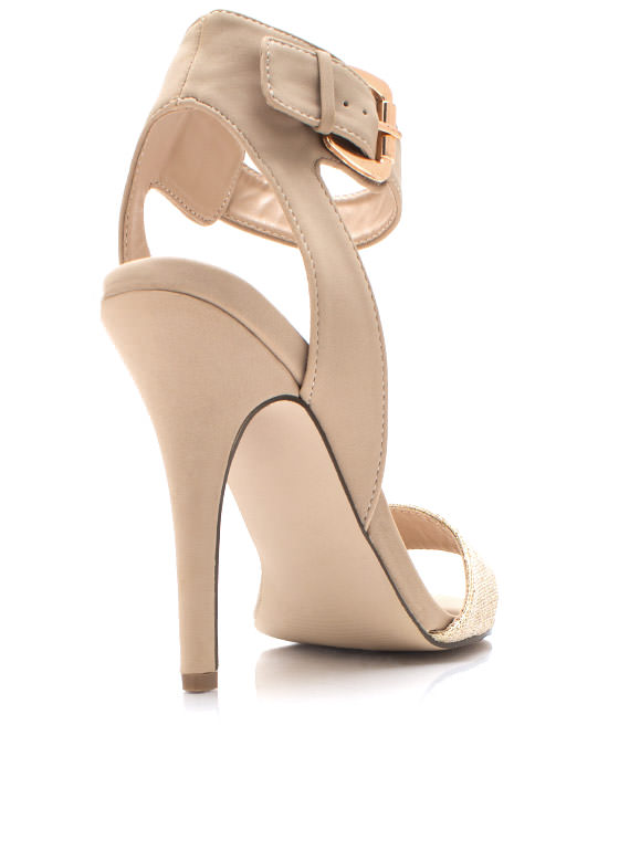 Twinkly Toes Ankle Strap Heels NUDE