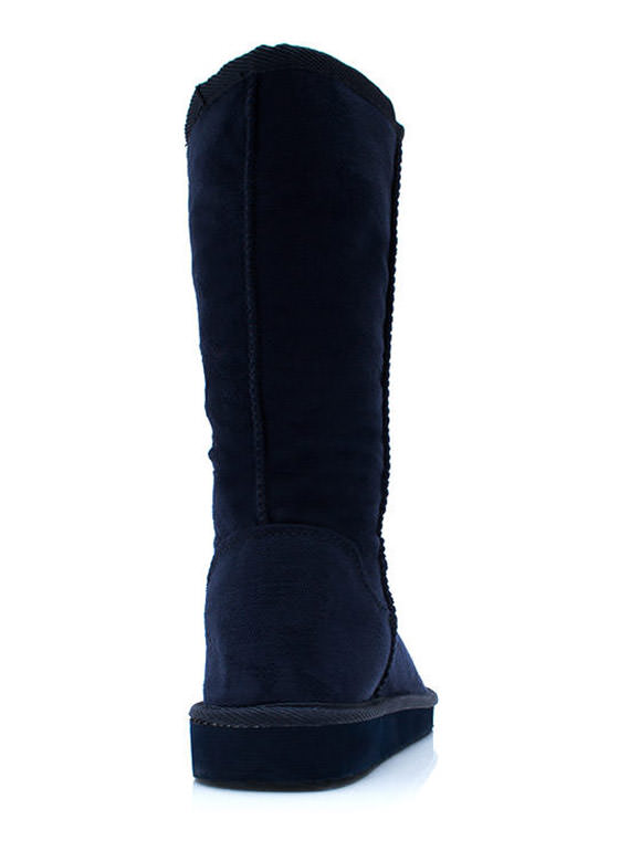 Cozy Faux Suede Boots NAVY