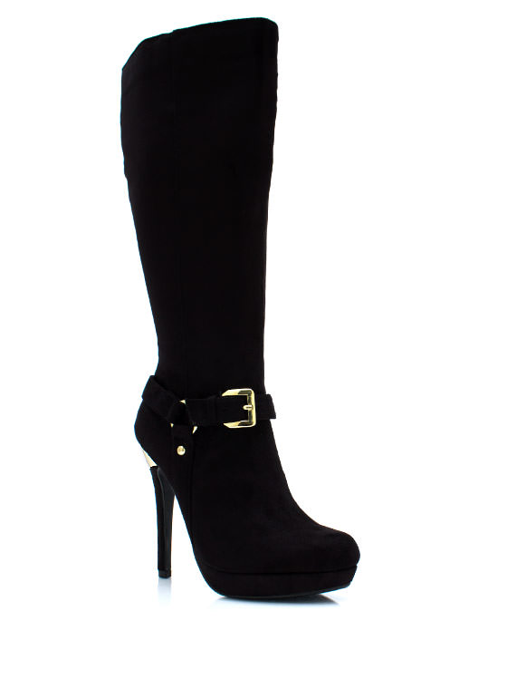 Great Heights Heel Boots BLACK