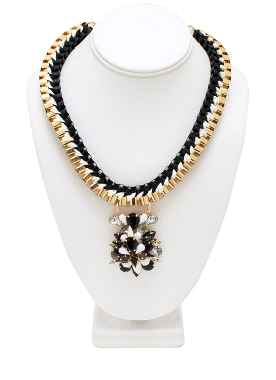 Cluster Of Jewels Boxy Necklace GOLDBLACK
