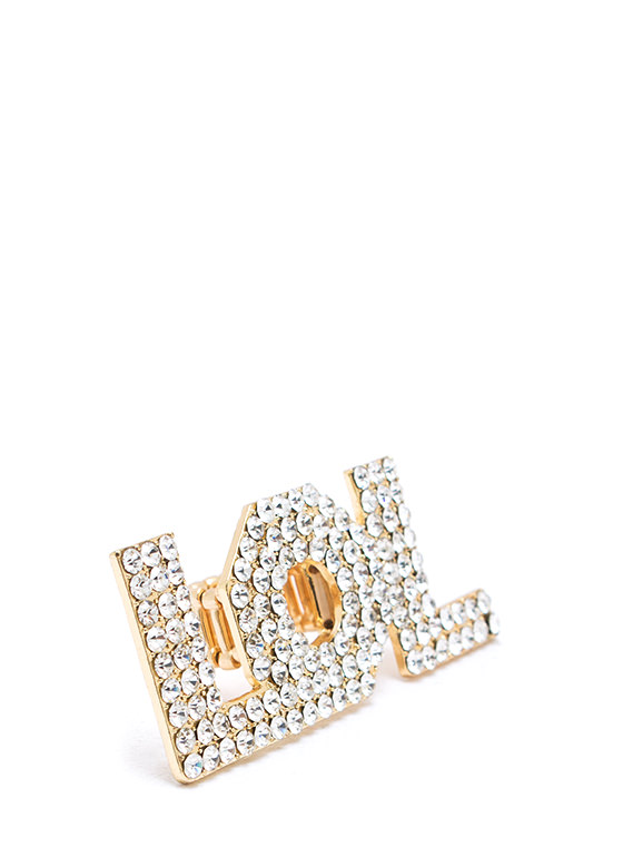 Lol Embellished Ring GOLD