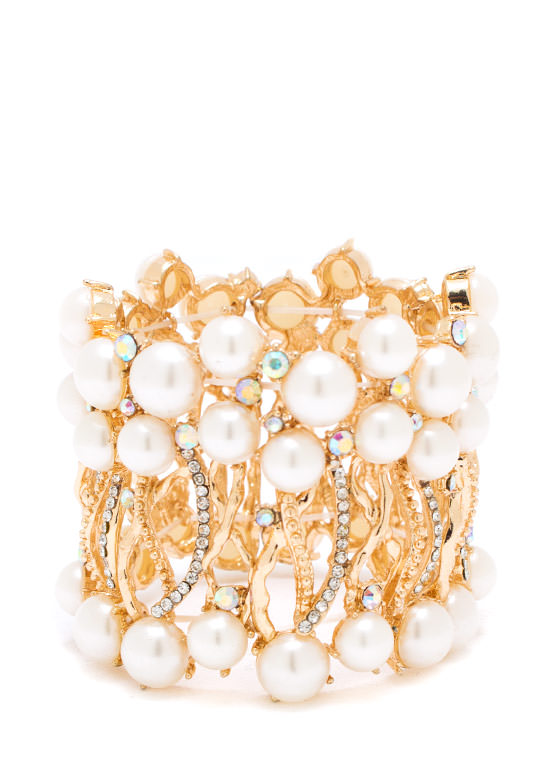 Oh You Fancy Pearl Bracelet GOLDIVORY