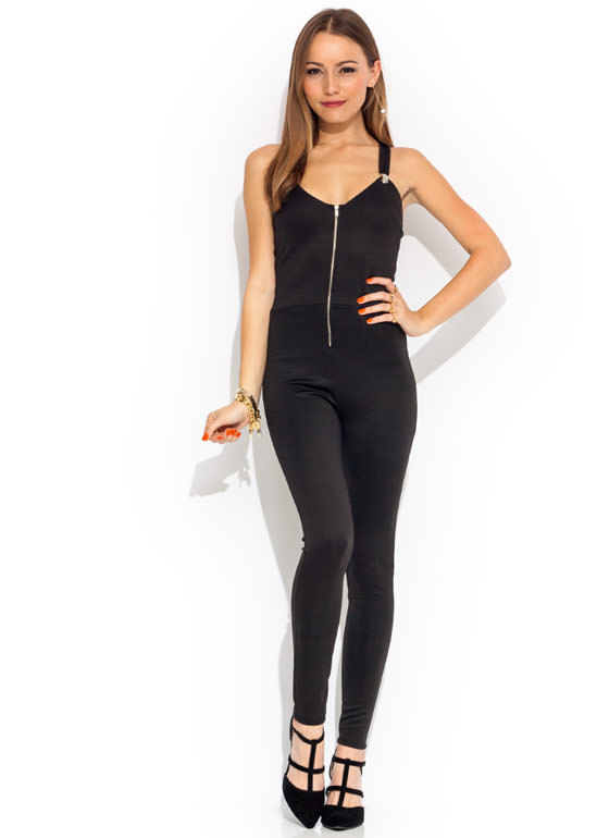 Suspended Motion Jumpsuit BLACK